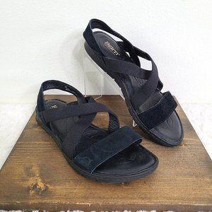 Born Black Linden Leather Slip On Sandal